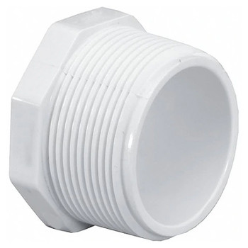 4 in. PVC Threaded Plug, PVC Schedule 40 Pipe Fitting, NSF 61 Certified