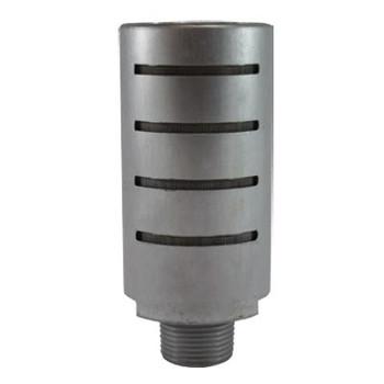 1/8 in. Aluminum High Flow Muffler, 50 Mesh Stainless Steel Element, Max Operating Pressure: 300 PSI, Pneumatic Accessories