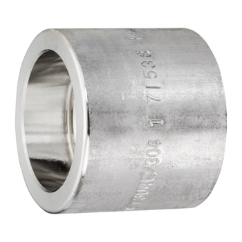 1/2 in. x 3/8 in. Socket Weld Reducing Coupling 304/304L 3000LB Forged Stainless Steel Pipe Fitting