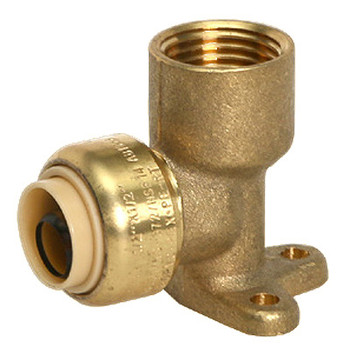 1/2 in. x 1/2 in. Drop Ear Elbow (Push x FNPT) QuickBite (TM) Push-to-Connect/Press On Fitting, Lead Free Brass (Disconnect Tool Included)
