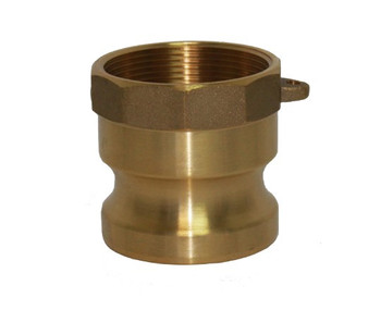 1 in. Type A Adapter Brass Cam and Groove Male Adapter x Female NPT Thread