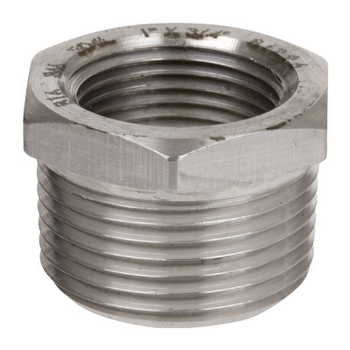 1/2 in. x 1/4 in. Threaded NPT Hex Bushing 304/304L 3000LB Stainless Steel Pipe Fitting