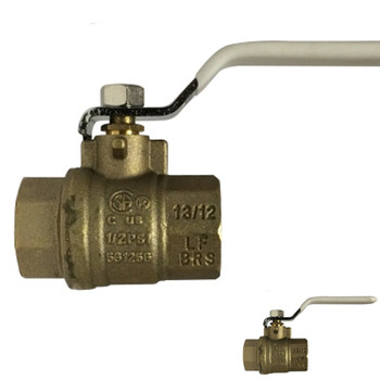 1/2 in. 600 PSI WOG, Lead Free Brass Ball Valve, Full Port, FIP x FIP, CSA, UL, FM, cUPC, NSF, ANSI 61, ANSI 372