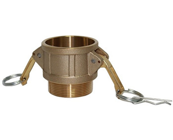 1 in. Type B Coupler Brass Cam and Groove Female Coupler x Male NPT Thread