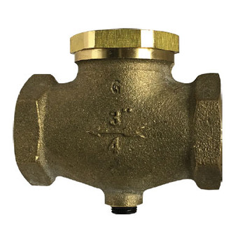 3/4'' In-Line Check Valve, Vertical or Horizontal, Cast Bronze Body, Working Pressure: 250 PSI, Repairable