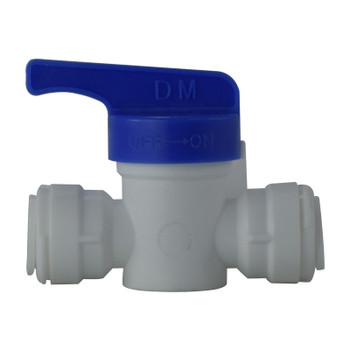 3/8 in. OD Shut Off Valve, PL x PL, Polypropylene Plastic Push In Tube Fitting