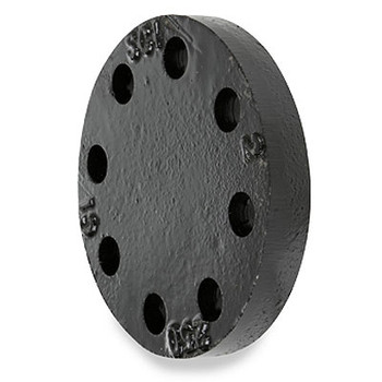 2 in. 250 lb Cast Iron Black Blind Pipe Flange