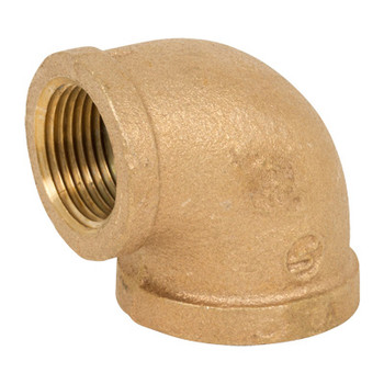 1/2 in. Threaded NPT 90 Degree Elbow, 125 PSI, Lead Free Brass Pipe Fitting