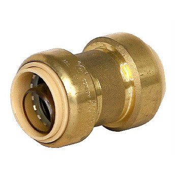 1/2 in. Coupling QuickBite (TM) Push-to-Connect Fitting, Lead Free Brass (Disconnect Tool Included)