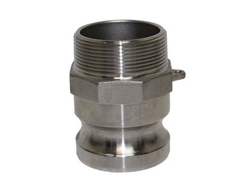 1-1/2 in. Type F Adapter 316 Stainless Steel Cam and Groove Male Adapter x Male NPT Thread