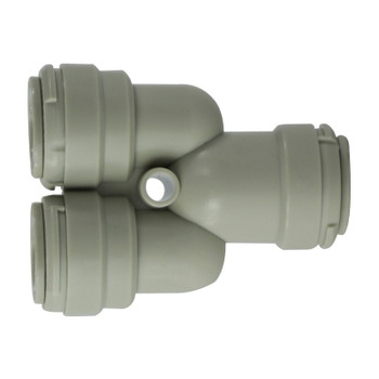 5/16 in. Tube OD 2-Way Divider, Plastic Push In Tube Fitting