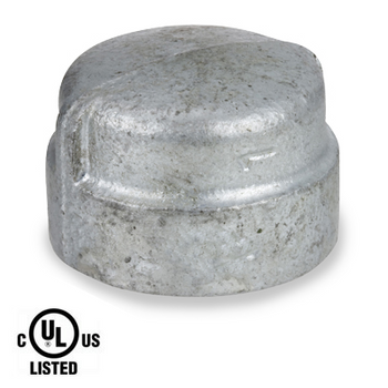 1 in. Galvanized Pipe Fitting 300# Malleable Iron Cap, UL Listed