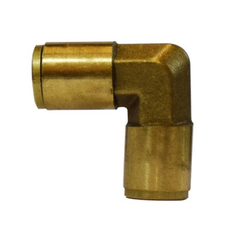 1/8 in. Tube OD, Push-In Union Elbow, Brass Push to Connect Fittings