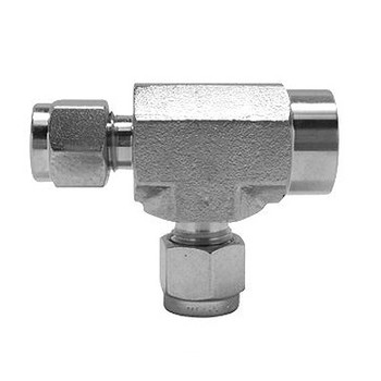 3/8 in. Tube x 1/4 in. NPT Female Run Tee 316 Stainless Steel Fittings Tube/Compression