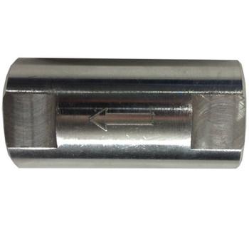 1 in. FNPT x FNPT Female Spring Check Valve, 1500 PSI WOG Working Pressure, 316 Stainless Steel