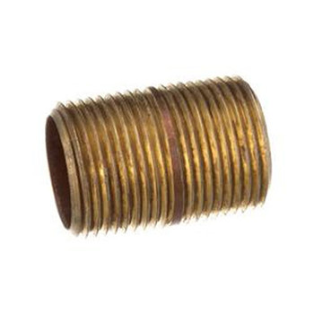 2 in. x 2 in. (Close) Brass Pipe Nipple, NPT Threads, Schedule 40 Nipples & Pipe Fittings