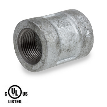 3/8 in. Galvanized Pipe Fitting 300# Malleable Iron Banded Coupling, UL Listed