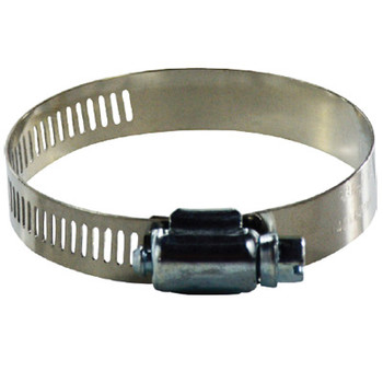 #32 Worm Gear Clamp, 316 Stainless Steel, 1/2 in. Wide Band Clamps, 600 Series