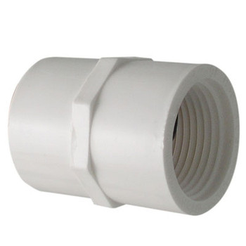1-1/4 in. PVC Slip x FIP Adapter, PVC Schedule 40 Pipe Fitting, NSF 61 Certified