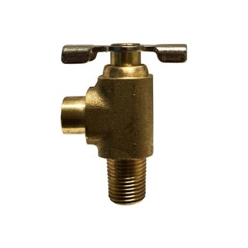 1/4 in. MIP x 3/8 in. (.38) ID Hose Bibb Needle Valve, Brass, Drain Cock, Lower, Industry No. 120