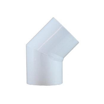 2 in. PVC Slip 45 Degree Elbow, PVC Schedule 40 Pipe Fitting, NSF 61 Certified