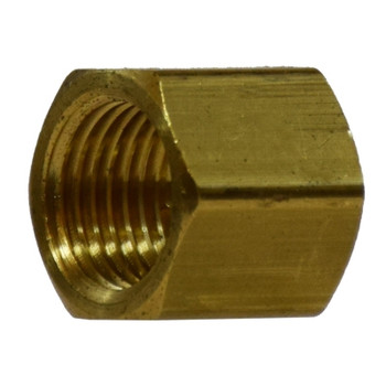 1/8 in. Cap, NPFT Threads, Up to 1200 PSI, Barstock Brass, Pipe Fitting