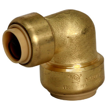 1 in. x 3/4 in. Reducing Elbow QuickBite (TM) Push-to-Connect/Press On Fitting, Lead Free Brass (Disconnect Tool Included)