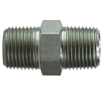 3/8 in. x 3/8 in. Hex Nipple Steel Pipe Fitting