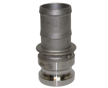 1 in. Type E Adapter 316 Stainless Steel Cam and Groove Male Adapter x Hose Shank
