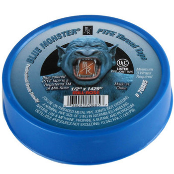 Blue Monster PTFE Thread Seal Tape 1/2 in. x 1429 in. Single Roll