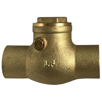 1/2 in. 200WOG, CxC, Swing Check Valve Valve, Lead Free Brass