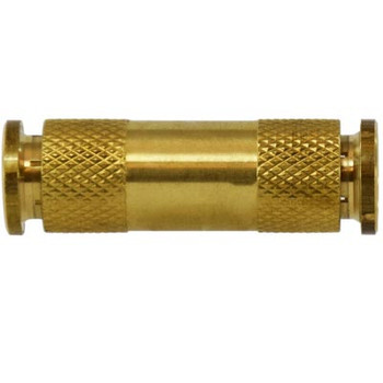 1/8 in. Tube OD, Push-In Union Connector, Brass Push to Connect Fittings