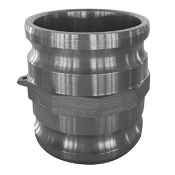1-1/2 in. x 2 in. Male Adapter x Male Adapter, 316 Stainless Steel, Spool Adapter, Camlock/Cam & Groove