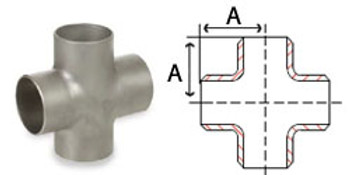 Stainless Steel Butt Weld Pipe Fittings Crosses