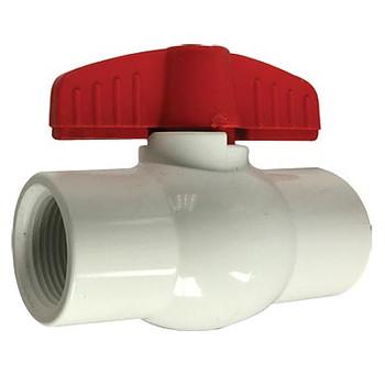 2 in. IPS PVC White Ball Valves, Full Port, 150 PSI
