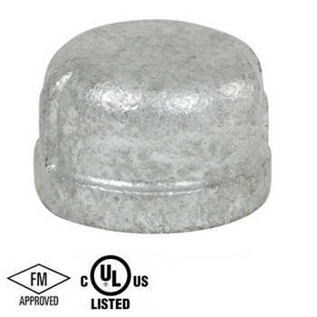 1/4 in. Galvanized Pipe Fitting 150# Malleable Iron Threaded Cap, UL/FM