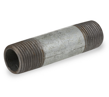 1 in. x 2-1/2 in. Galvanized Pipe Nipple Schedule 40 Welded Carbon Steel