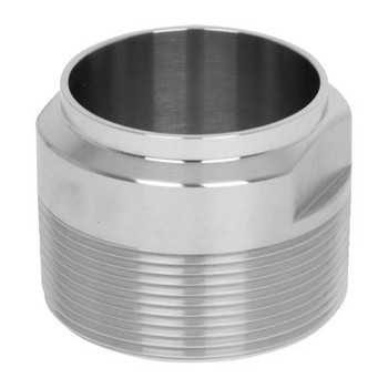 19WB Adapter Stainless Steel Sanitary Fittings Tube OD Butt Weld