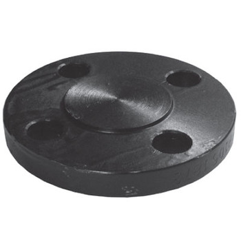 4 in. Blind Flange, 1/16 in. Raised Face, ASMTA105 Forged Steel Pipe Flange