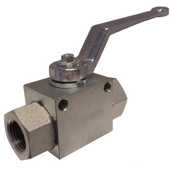 7/16-20 UNF Thread, SAE, High Pressure Full Port 2-Way Ball Valve, Working Pressure: 7250 PSI