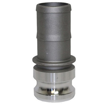 1 in. Type E Adapter Aluminum Male Adapter x Hose Shank, Cam & Groove/Camlock Fitting