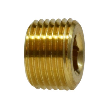 3/8 in. Countersunk Hex Plug, NPTF Threads, 3/4 in. Tapered Thread, 1200 PSI Max, Brass, Pipe Fitting
