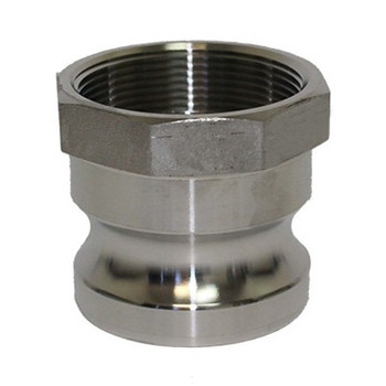 2 in. Type A Adapter 316 Stainless Steel Cam and Groove Male Adapter x Female NPT Thread
