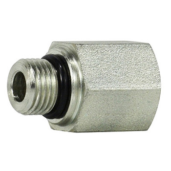7/16-20 MORB x 1/4 in. FNPT Steel O-Ring to Female Pipe Adapter