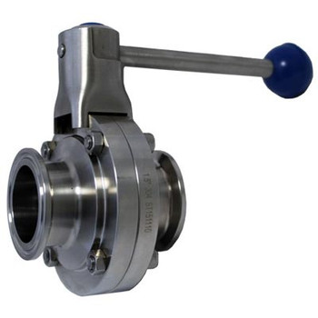 1.5 in. Tri-Clamp Butterfly Valve, Pull Trigger, 304 Stainless Steel, ALL Stainless Steel