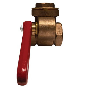 1-1/4 in. Quick Opening Gate Valve, Features: Bronze Material, Threaded Ends
