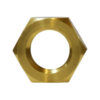 1/4 in. Lock Nut, NPSL Straight Pipe Threads, Jam Nut, Barstock Brass, Pipe Fitting