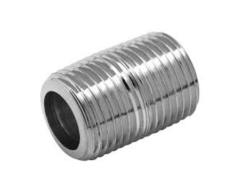 3/8 in. x 1 in. Close Pipe Nipple 316 Stainless Steel Threaded NPT Schedule 40