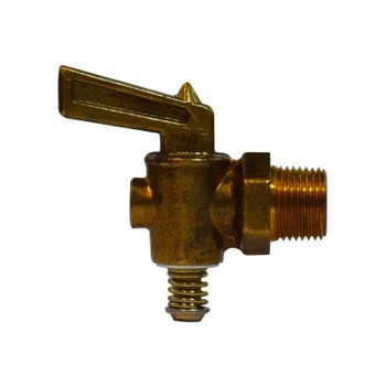 1/8 in. MIP Lever Handle Drain Cock, Brass, 30 PSI, Industry No. M-41-P