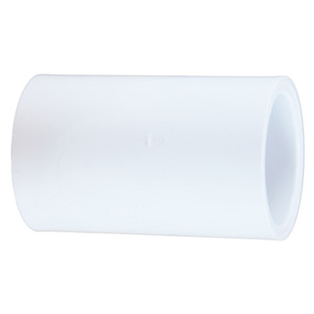 1-1/2 in. PVC Slip Coupling, PVC Schedule 40 Pipe Fitting, NSF 61 Certified